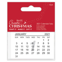 2021 Calendar Tabs | 10 pack | Create Christmas