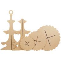 MDF Wood Shape | 3 Tier Cupcake Stand | Pronty Crafts | Parts