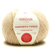 Sirdar Haworth Tweed DK Knitting Yarn, 50g balls | 911 Cotton Grass Cream