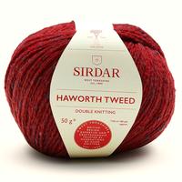 Sirdar Haworth Tweed DK Knitting Yarn, 50g balls  | 906 West Riding Red