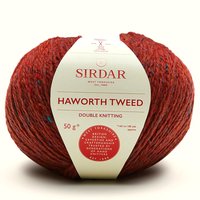 Sirdar Haworth Tweed DK Knitting Yarn, 50g balls | 907 Ryedale Russet