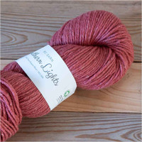 BC Garn Northern Lights GOTS Aran Weight Knitting Yarn, 100g Hanks | 09 Pale Red