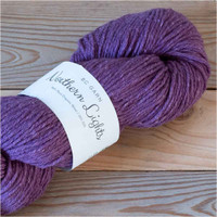 BC Garn Northern Lights GOTS Aran Weight Knitting Yarn, 100g Hanks | 13 Purple