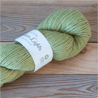 BC Garn Northern Lights GOTS Aran Weight Knitting Yarn, 100g Hanks | 14 Pistachio