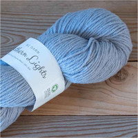 BC Garn Northern Lights GOTS Aran Weight Knitting Yarn, 100g Hanks | 17 Light Blue