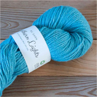 BC Garn Northern Lights GOTS Aran Weight Knitting Yarn, 100g Hanks | 18 Turquoise