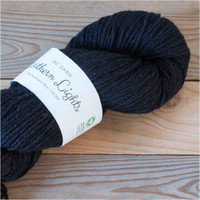 BC Garn Northern Lights GOTS Aran Weight Knitting Yarn, 100g Hanks | 25 Black