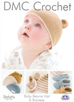 Baby Beanie and Booties Crochet Pattern   DMC Natura Cotton