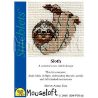 Mouseloft Stitchlets Mini Cross Stitch Kits | Sloth