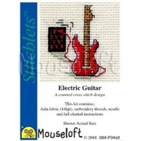 Mouseloft Stitchlets Mini Cross Stitch Kits | Electric Guitar