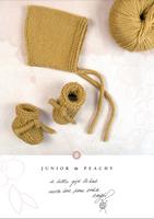 Junior Bootees & Peachy Bonnet in Rowan Cotton Wool