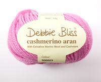 Debbie Bliss Cashmerino Aran Knitting Yarn, 50g   Various Colours  - Ball of pink