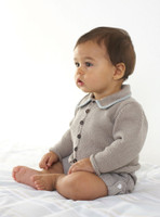Jacket with collar Knitting pattern in Eco baby