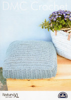 Crochet pattern for Square cushion cover - DMC Natura XL