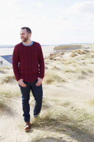 Mans Cabled Sweater in Falkland Aran by Debbie Bliss