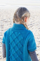 Childs Cabled Tunic in Falkland Aran by Debbie Bliss