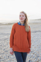 Cable and Double Moss Stitch Tunic in Falkland Aran by Debbie Bliss