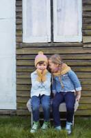 Childrens hat, mitt and scarf using Debbie Bliss Falkand Aran yarn