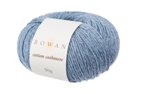 Rowan Cotton Cashmere DK Knitting Yarn, 50g Donuts   Various Shades  - 222 Faded Denim