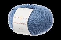 Rowan Cotton Cashmere DK Knitting Yarn, 50g Donuts | Various Shades  - 223 Harbour Blue