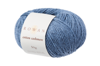 Rowan Cotton Cashmere DK Knitting Yarn, 50g Donuts | Various Shades  - 223 Harbour Blue