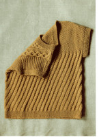 Angelica, DK Knitting Pattern for Cabled Tunic | Erika Knight Blue 100 - View of reverse