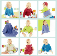 Sirdar Snuggly Happy Knits pattern Book - a selection of the patterns available