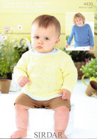 Baby / Boys Pattern for Sweaters | Sirdar Snuggly Baby Bamboo DK 4430