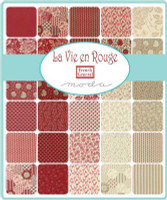 La Vie en Rouge | French General | Moda Fabric | Jelly Roll - Swatch Page