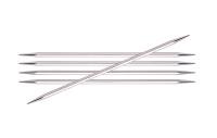 KnitPro Nova Cubic Double Pointed Metal Needles | Set of 5 | 20 cm Long - Main Image