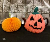 Robin DK Pumpkin Tea Cosy Free Downloadable Knitting Pattern | Robin DK - Main Image