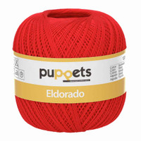 Anchor Puppets Eldorado 50g Crochet Yarn 10 Tkt  | Red
