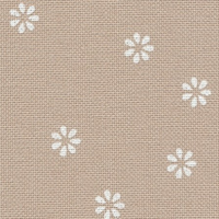 Murano Lugana Fleur Evenweave | 32ct | Zweigart | Colour 7399 Beige Flower