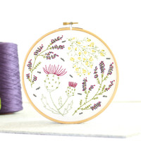 Hawthorn Handmade | Contemporary Embroidery Kit | Highland Heathers