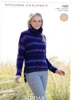 Sirdar Syvan Chunky | Knitting Patterns |Sweater | 7489