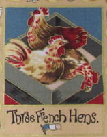 The 12 Days of Christmas fabric | Nutex | 87800 101 Metallic - 3 French Hens