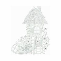 Sweet Dixie Fairy Boot House Metal Cutting Die (Grey)