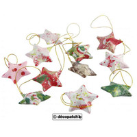 Kraft Stars with Hanging String | 15pcs | Decopatch - painting