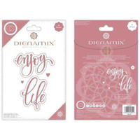 Dienamix   Craft Consortium   Enjoy Life Cutting Die - Front and Back