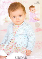 Babies / Childs Cardigans 4 Ply Pattern | Sirdar Snuggly 4 Ply 1520 - Main image