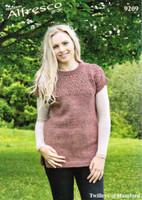 Patterned Tunic Aran Knitting Pattern | Twilleys Alfresco Aran 9209