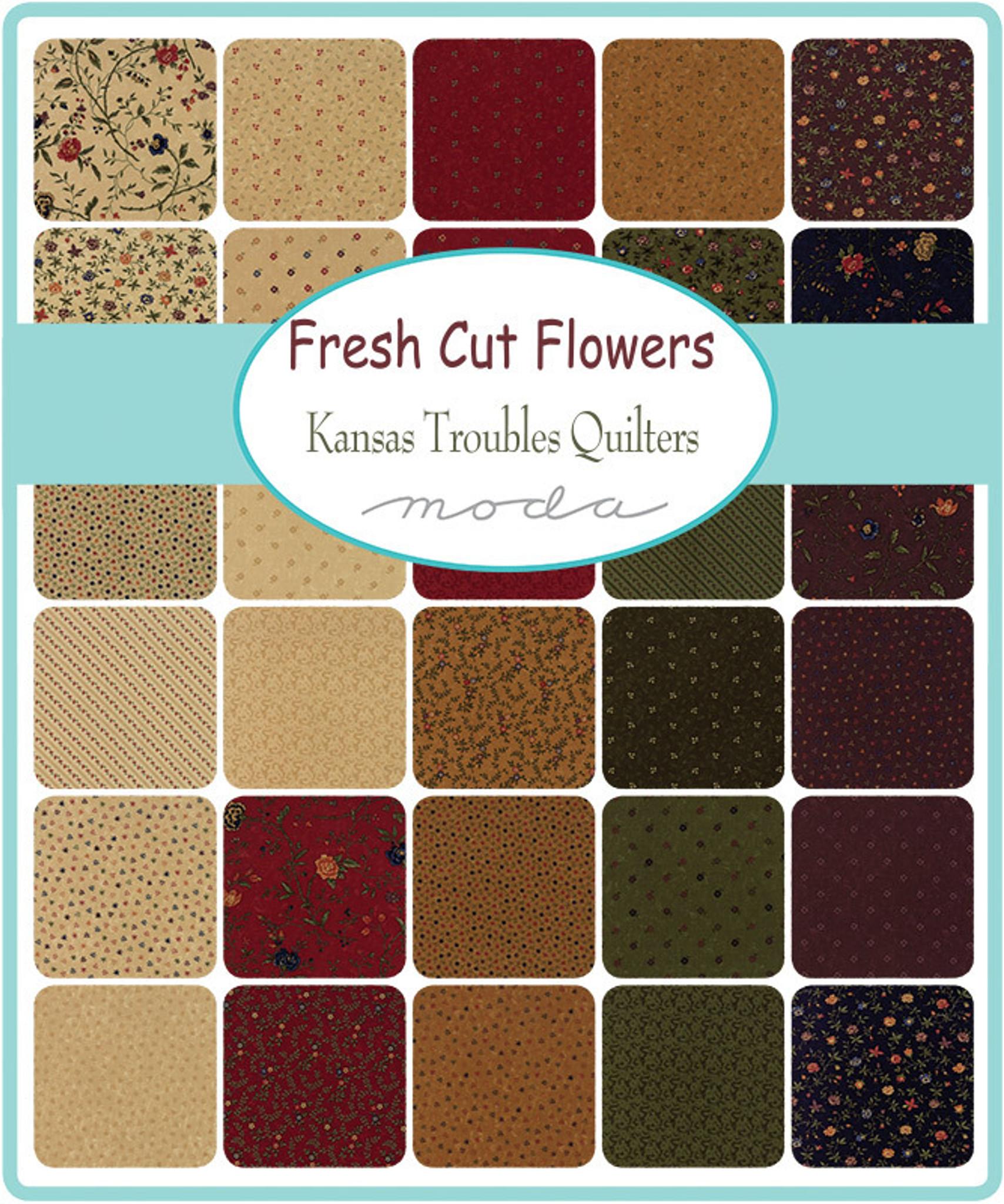 Fresh Cut Flowers   Kansas Troubles   Moda Fabrics