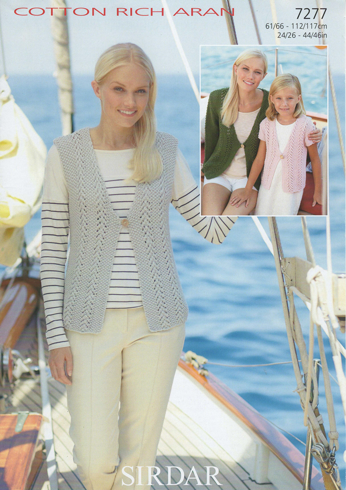 Aran Knitting Pattern for Ladies Tree of Life Waistcoat 42