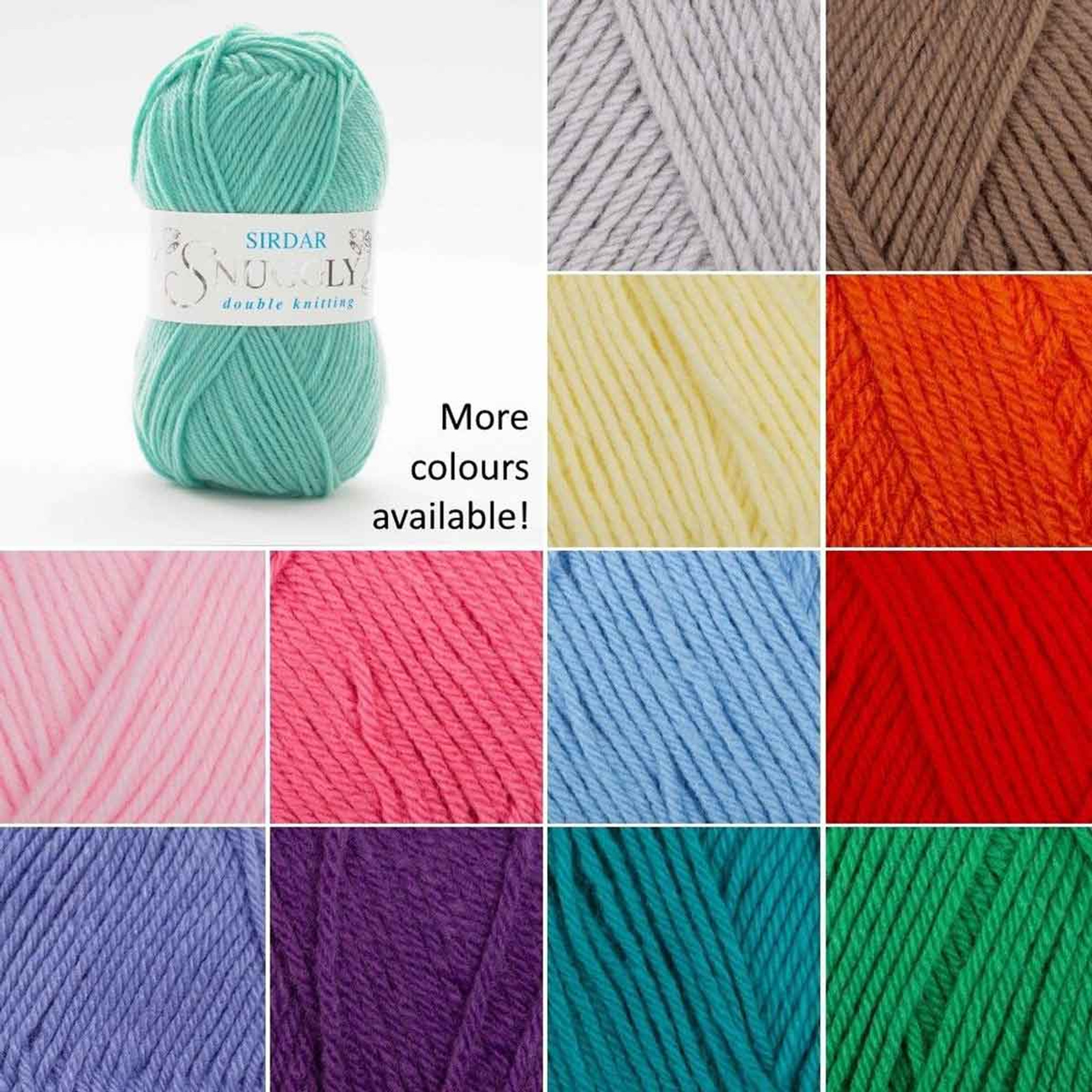 Ten 50g Balls of Sirdar Snuggly Double Knitting Wool//Yarn for Knitting//Crochet