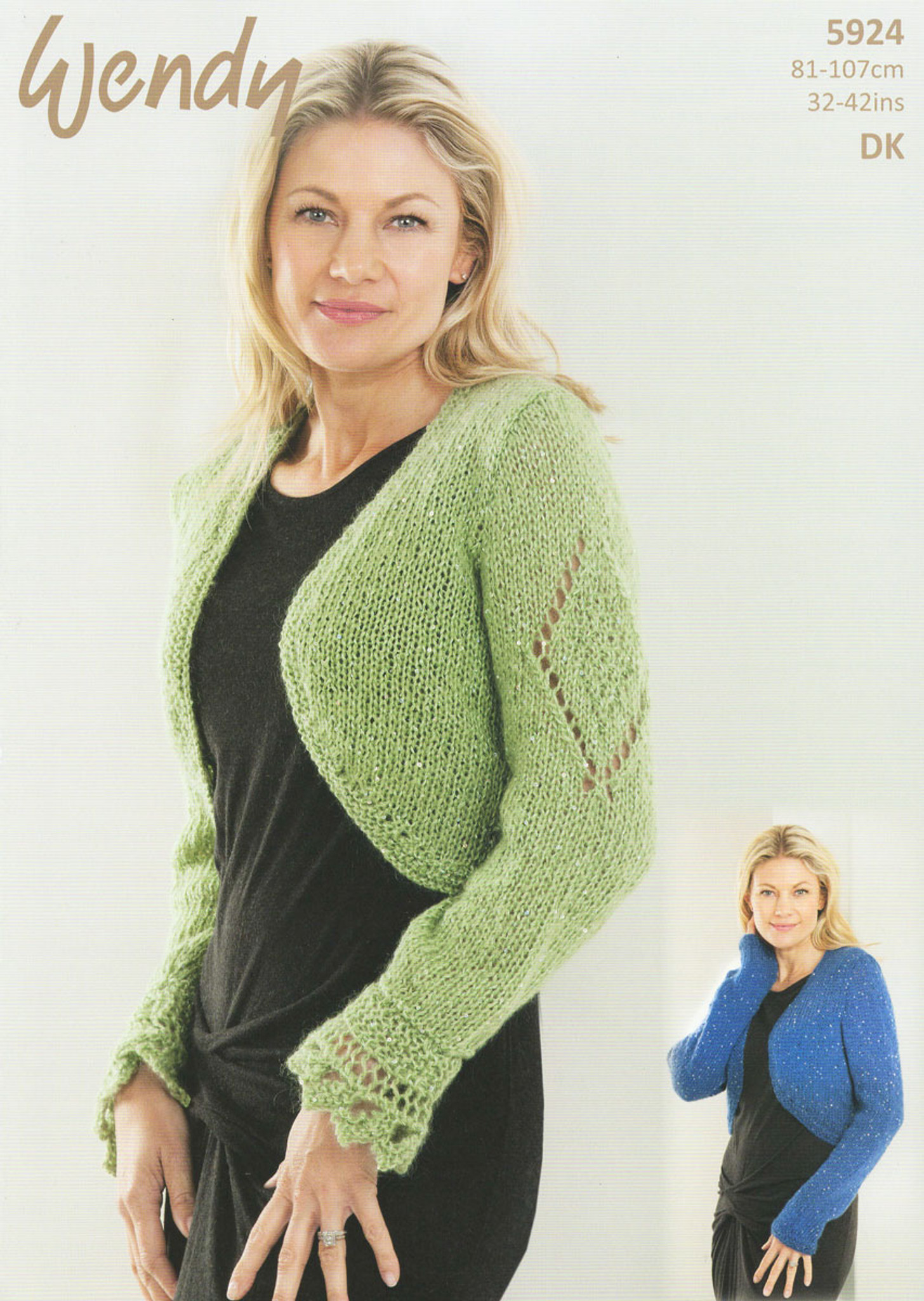 Easy Knit Womens Long or Short Sleeve Jumpers Knitting Pattern King Cole DK 4364
