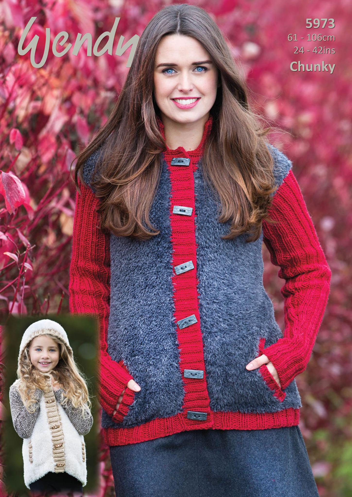 KNITTING PATTERN Ladies Leaf Design Tunic /& Jumper Chunky 5695 Wendy