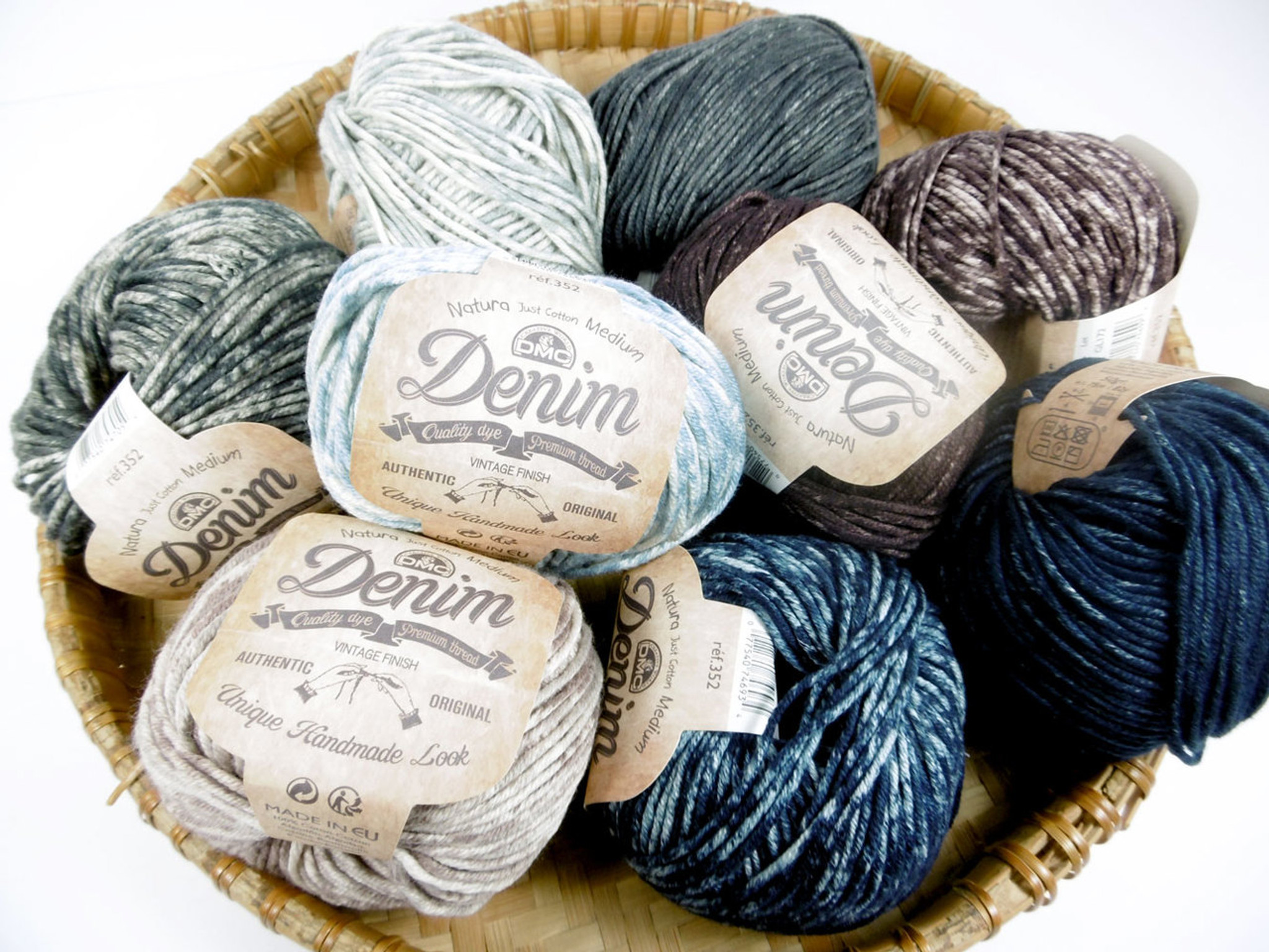 Colour 05 50g Ball DMC Natura 100/% Cotton 4 Ply Crochet /& Knitting Yarn Blue