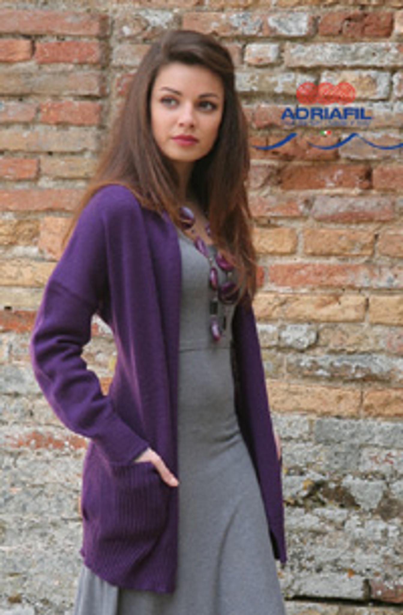 Ladies Cardigan Pattern | Adriafil Avantgarde - Free
