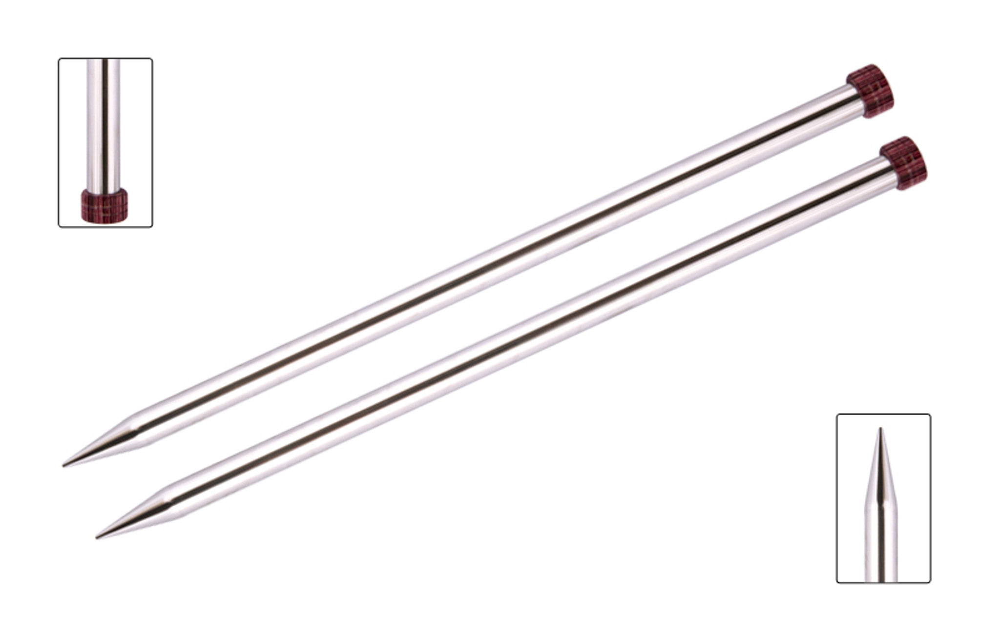KnitPro Nova Metal Single Pointed Knitting Needles 35cm