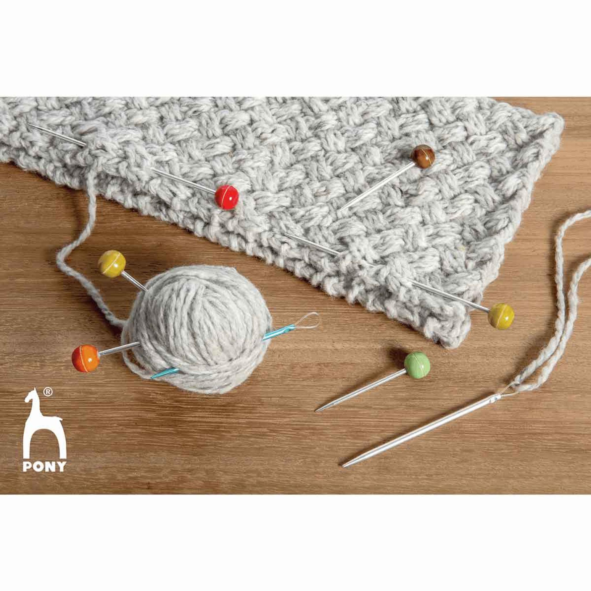 Pony Stitch Holders Knitting Needles Knit Pin Small Medium Large Steel All Sizes